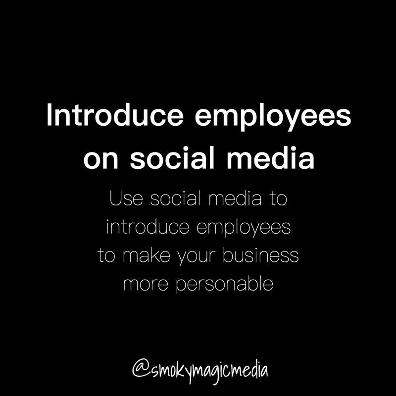 Introduce Employees on Social Media