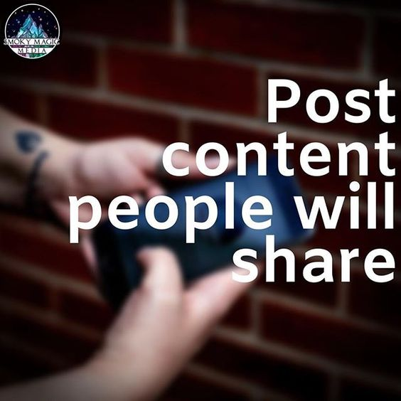 Post content they will share on social media